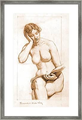 Romance - Nude Study 1896 Framed Print by Padre Art