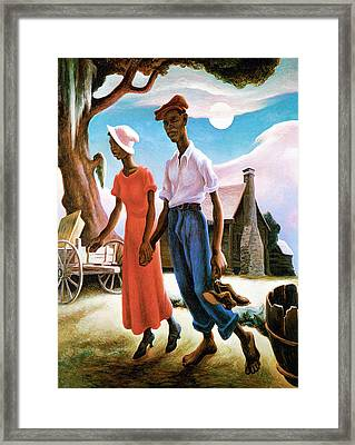Romance Framed Print by Thomas Benton