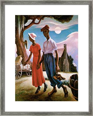 Romance Framed Print by Thomas Hart Benton