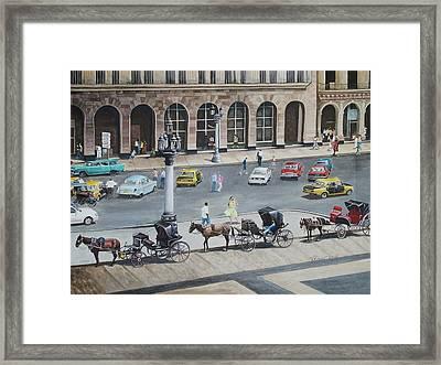 Romancing Havana Framed Print by Pam Kaur