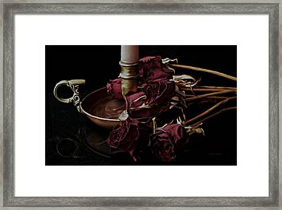 Romancing The Dead Roses Framed Print by Barbara St Jean