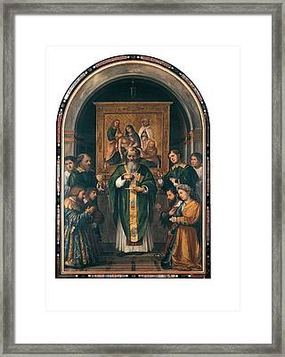 Romani Girolamo Known As Romanino, The Framed Print by Everett