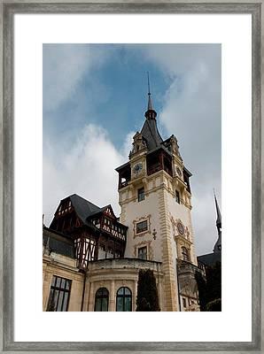 Romania Transylvania Sinaia Peles Castle Framed Print by Inger Hogstrom