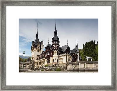 Romania, Transylvania, Sinaia, Peles Framed Print by Walter Bibikow