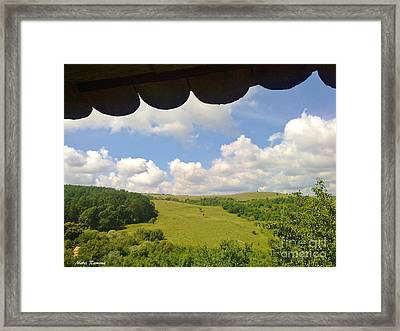 Framed Print featuring the photograph Romanian Hills by Ramona Matei