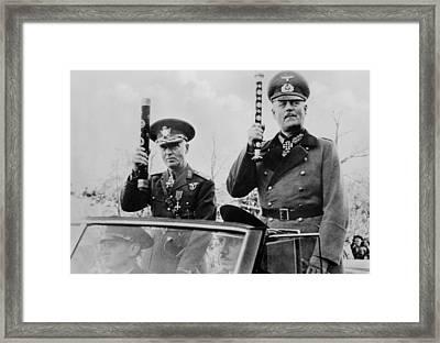 Romanian Leader, Ion Antonescu Framed Print