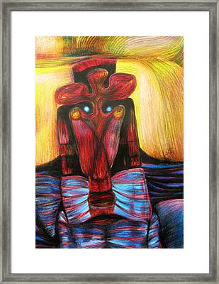 Romanian Mask Framed Print by Simona Dancila