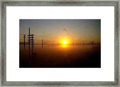 Framed Print featuring the photograph Romanian Sunset by Giuseppe Epifani