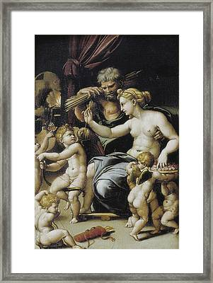 Romano, Giulio, Workshop Of. Venus Framed Print