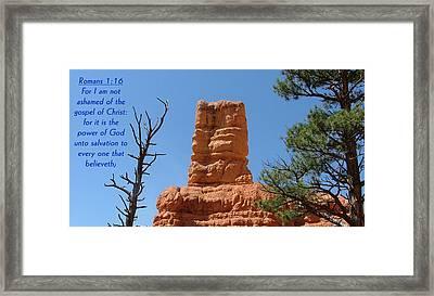 Bryce Canyon N. P. Romans 1-16 Framed Print