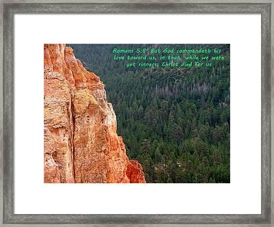 Bryce Canyon N. P. Romans 1-8 Framed Print