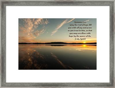 Romans 15 Verse 13 Framed Print