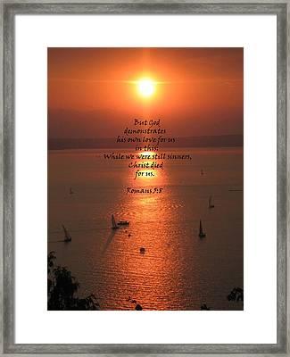 Romans 5 8 Framed Print
