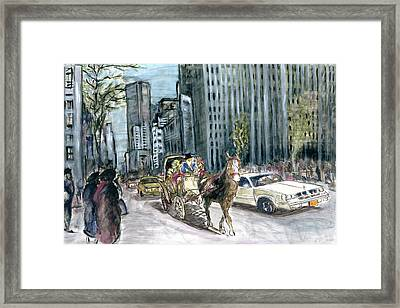 New York 5th Avenue Ride - Fine Art Framed Print by Art America Gallery Peter Potter