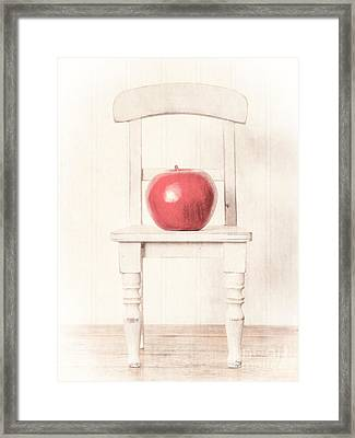 Romantic Apple Still Life Framed Print by Edward Fielding