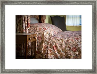 Romantic Bedroom Framed Print by Edward Fielding