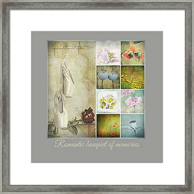 Romantic Bouquet Of Memories Framed Print