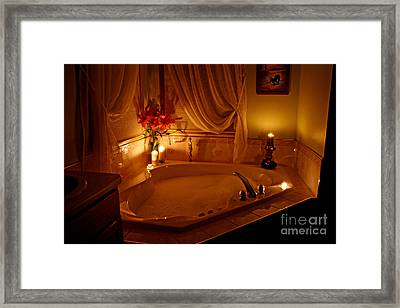 Romantic Bubble Bath Framed Print