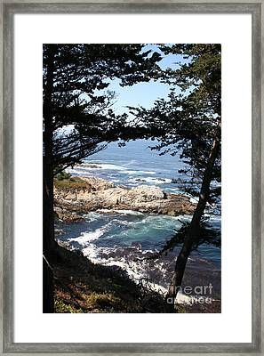 Romantic California Coast Framed Print