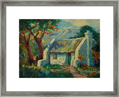 Romantic Cape Cottage Framed Print