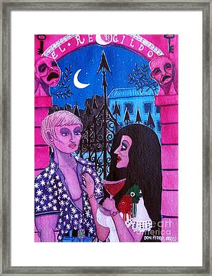 Romantic Couple Framed Print by Don Pedro De Gracia