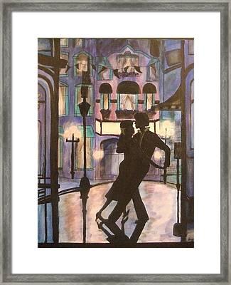 Romantic Dance Framed Print by Lynne McQueen