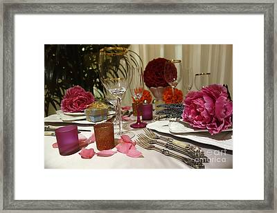 Romantic Dinner Setting Framed Print by Nina Prommer
