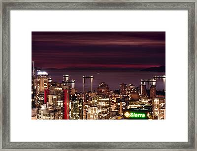 Framed Print featuring the photograph Romantic English Bay Mdcci by Amyn Nasser