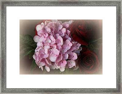 Framed Print featuring the photograph Romantic Floral Fantasy Bouquet by Kay Novy
