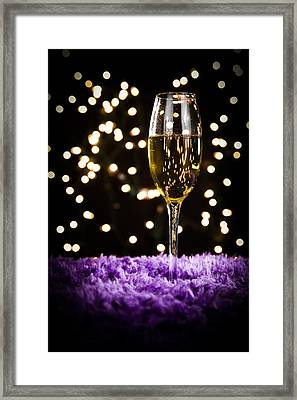 Romantic Holiday Night Framed Print by Erin Cadigan