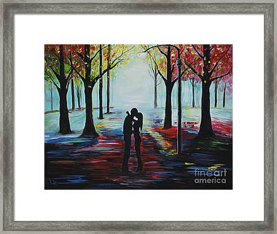 Romantic Kiss Framed Print