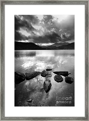 Romantic Lake Framed Print by Bernard Jaubert