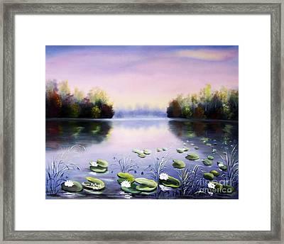 Romantic Lake Framed Print