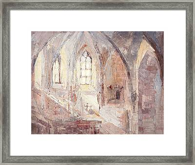 Romantic Light In A Stone Architecture Framed Print