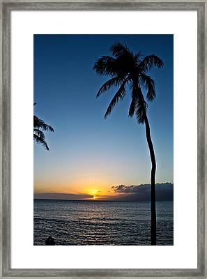 Framed Print featuring the photograph Romantic Maui Sunset by Joann Copeland-Paul