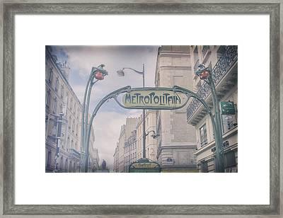 Romantic Memories Of Paris Framed Print by Georgia Fowler