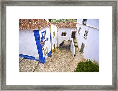 Romantic Obidos Framed Print