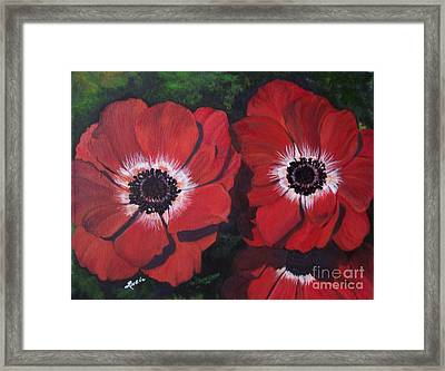 Romantic Red Framed Print