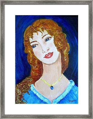 Romantic Saphire Framed Print by Robin Monroe