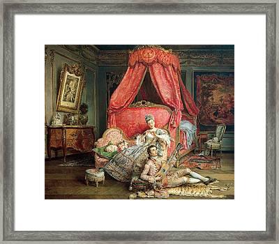 Romantic Scene Framed Print by Ignacio De Leon y Escosura