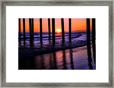 Romantic Stroll Framed Print by Tammy Espino