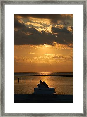 Romantic Sunrise Framed Print by Leticia Latocki