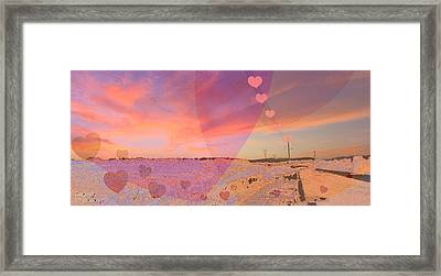 Romantic Sunset Framed Print by Augusta Stylianou