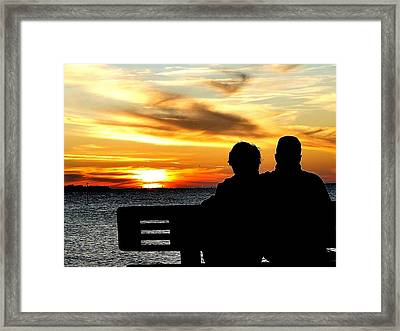 Romantic Sunset Framed Print by Cindy Croal