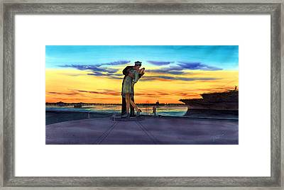 Romantic Sunset Framed Print by John YATO