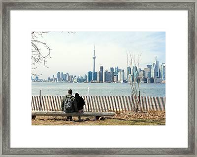 Romantic Toronto Framed Print by Valentino Visentini