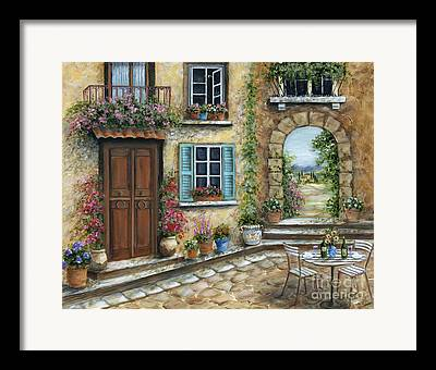 Patio Table And Chairs Framed Prints