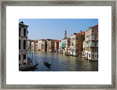 Romantic Venice Framed Print by Terence Davis