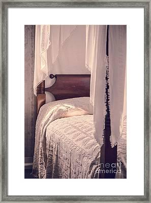 Romantic Vintage Bedroom Framed Print by Edward Fielding