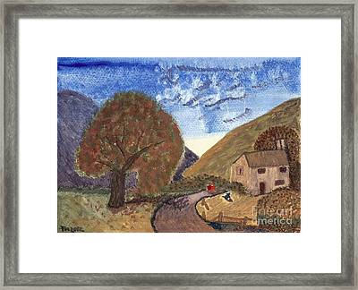 Framed Print featuring the painting Romantic Walk by Tracey Williams